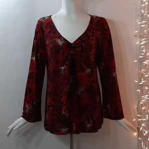 3/$18 Motherhood Maternity Top Stretchy Red